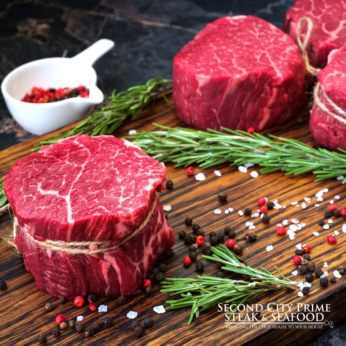 8-10oz USDA Prime Ribeye Filets - Second City Prime