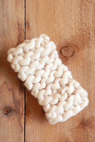 Cream Knit Ear Muffs