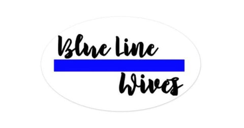 Blue Line Wives Magnet