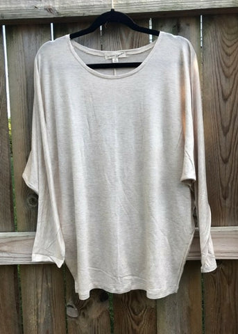 Long Sleeve Beige - Plus Size