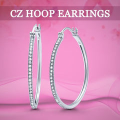 CZ Hoop Earrings
