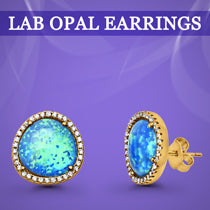 Lab Opal Earrings