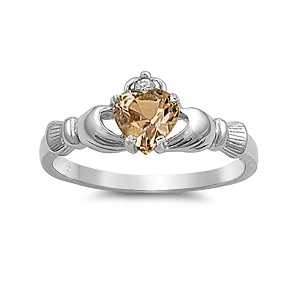 claddagh promise ring 925 sterling silver