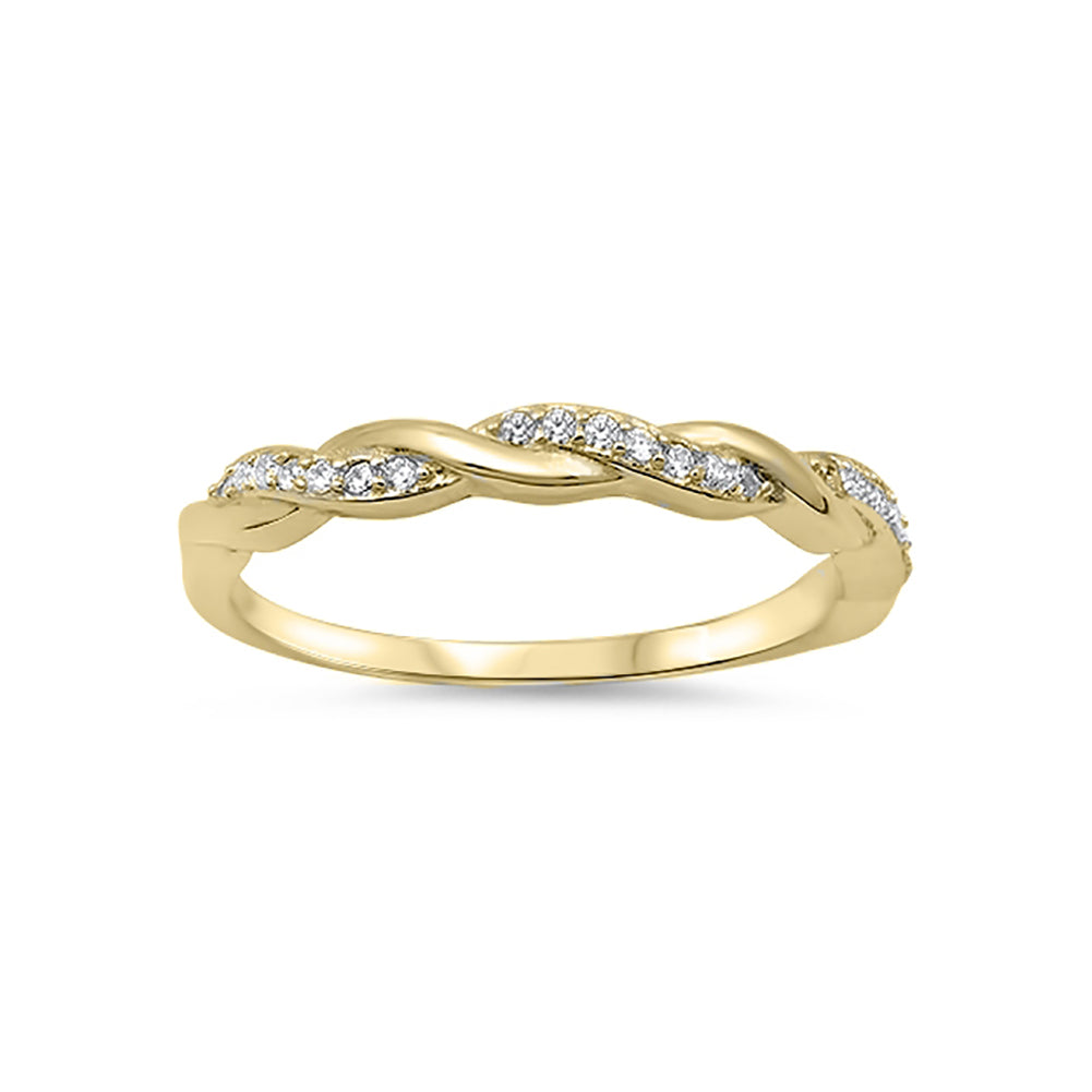 half eternity infinity twisted band ring round cz sterling. Black Bedroom Furniture Sets. Home Design Ideas
