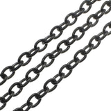 "1.8MM Rolo Black Plated Chain .925 Solid Sterling Silver Length ""16-20"" Inches"