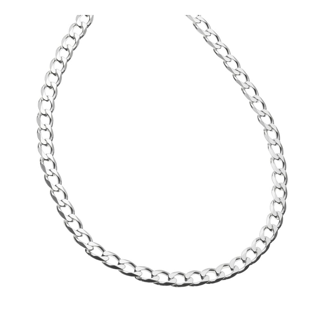"1.3MM 030 Rhodium Plated Curb Chain .925 Sterling Silver Length 16""-22"" Inches"