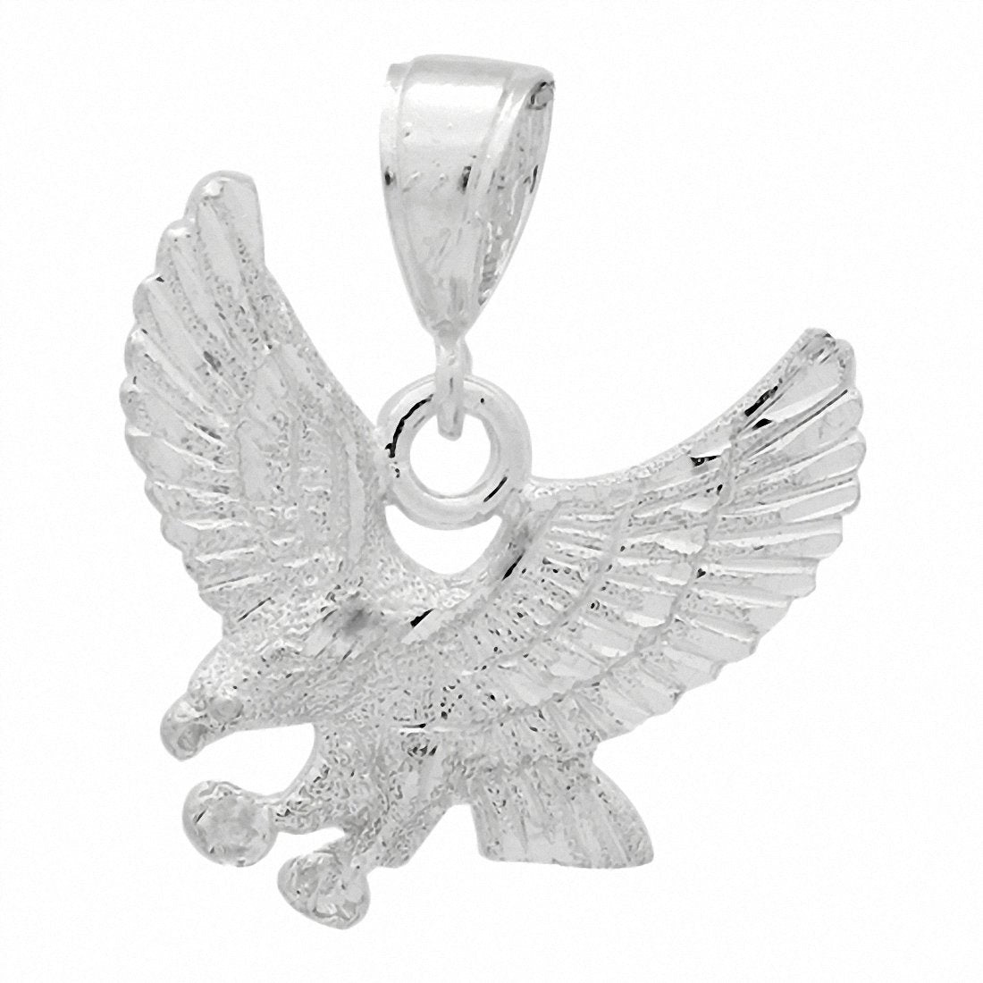 DC Eagle Pendant 925 Sterling Silver 30mm Choose Color