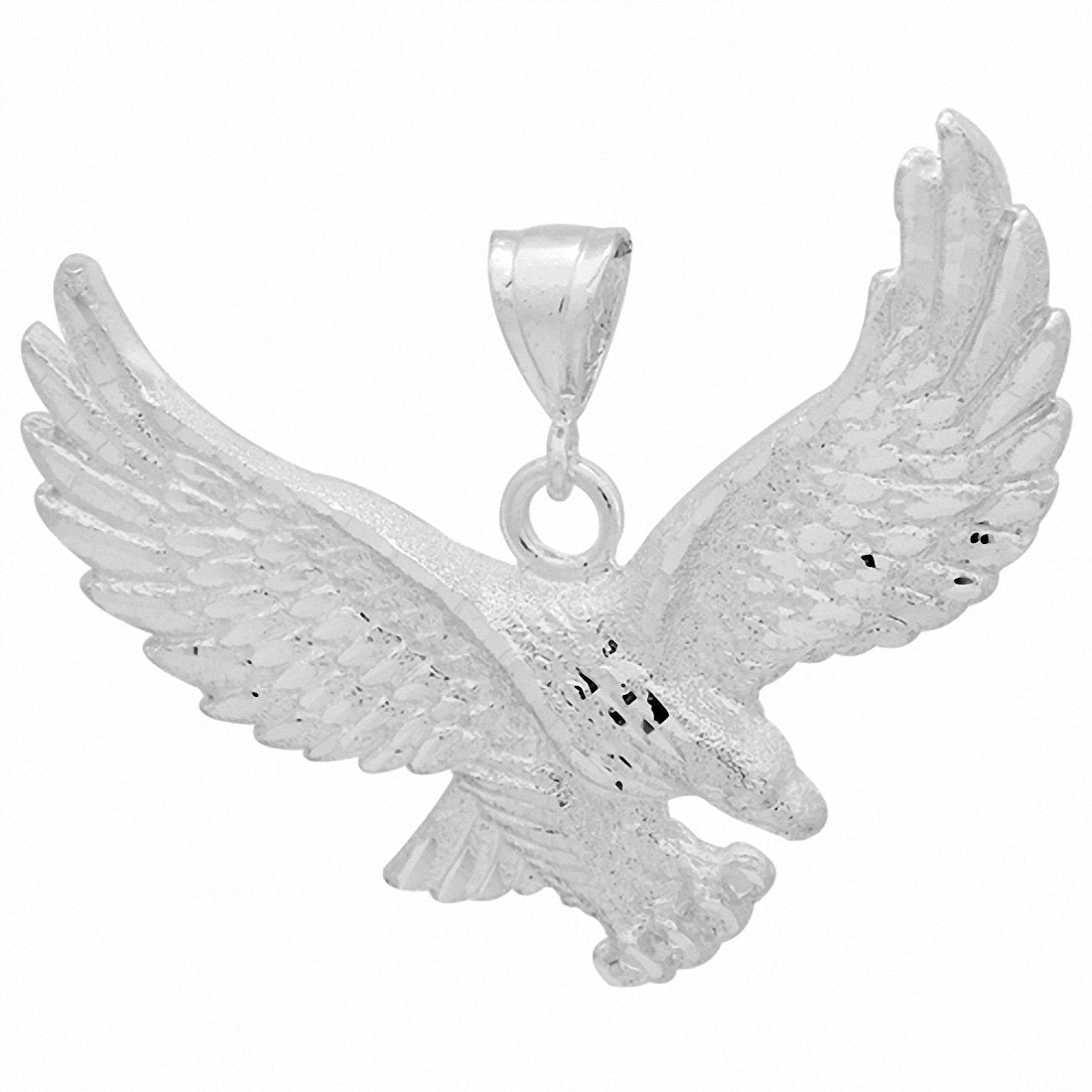 DC Eagle Pendant 925 Sterling Silver 70mm Choose Color