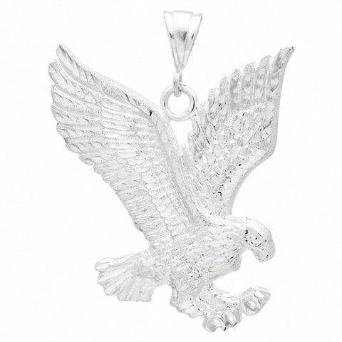 68mm Eagle DC Pendant 925 Sterling Silver Choose Color