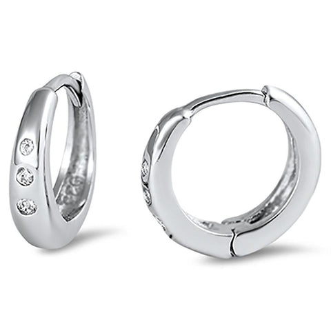 Hoop Earrings and Huggie Earrings made with Solid 925 Sterling Silver