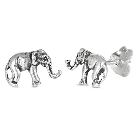 6mm Tiny Elephant Earrings 925 Sterling Silver Elephant Stud Post Choose Color - Blue Apple Jewelry