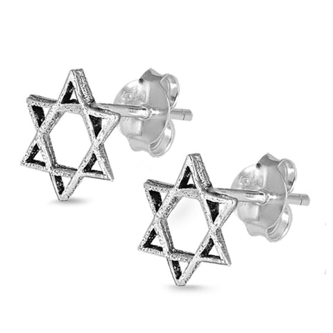 5mm Tiny Jewish Star of David Stud Post Earrings Star of David Earring Choose Color - Blue Apple Jewelry