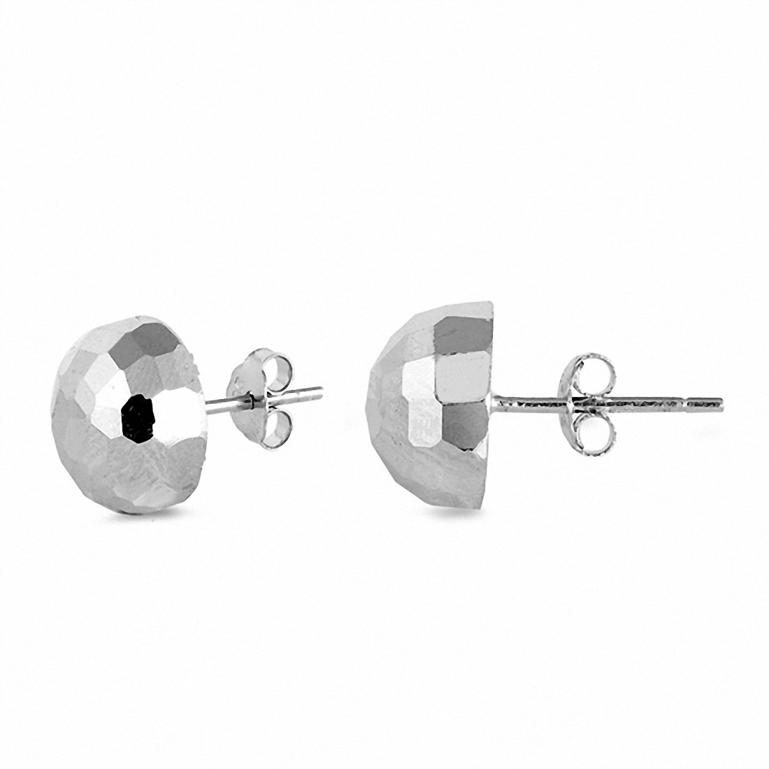b81eadb07 8mm Half Ball Hammered Finish Stud Earrings 925 Sterling Silver Choose  Color. Tap to expand