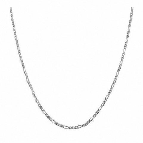 His Her Figaro Chain Necklace Charm in 925 Sterling Silver 030 Guage 1MM Men Women Unisex Figaro Link Chain Necklace Gift