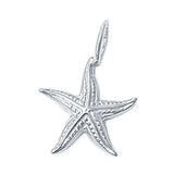 Starfish Charm Pendant Fashion Jewelry 925 Sterling Silver