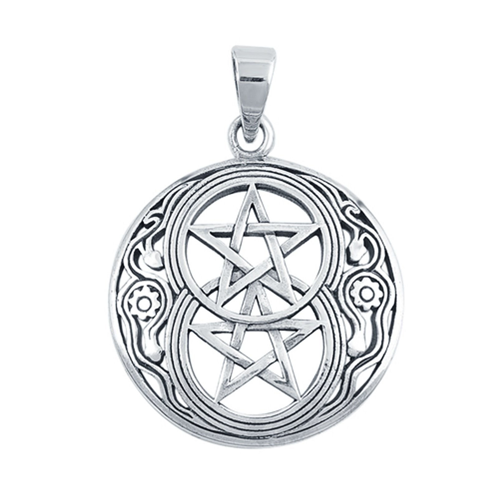Devil Star Pendant Charm Fashion Jewelry 925 Sterling Silver