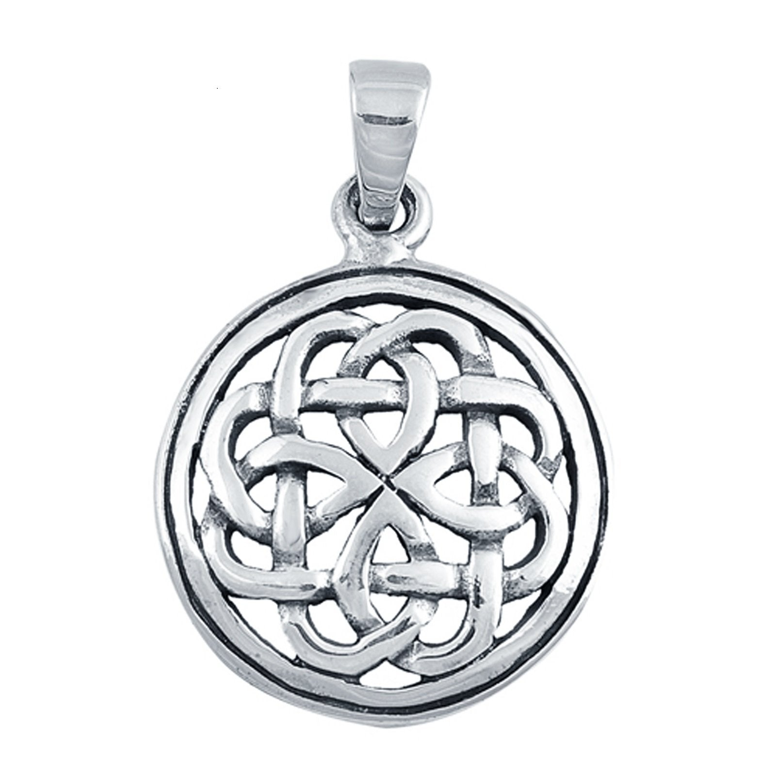 Silver Celtic Pendant Charm Fashion Jewelry 925 Sterling Silver