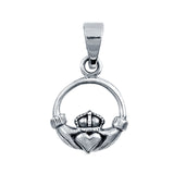 Silver Claddagh Pendant Charm 925 Sterling Silver