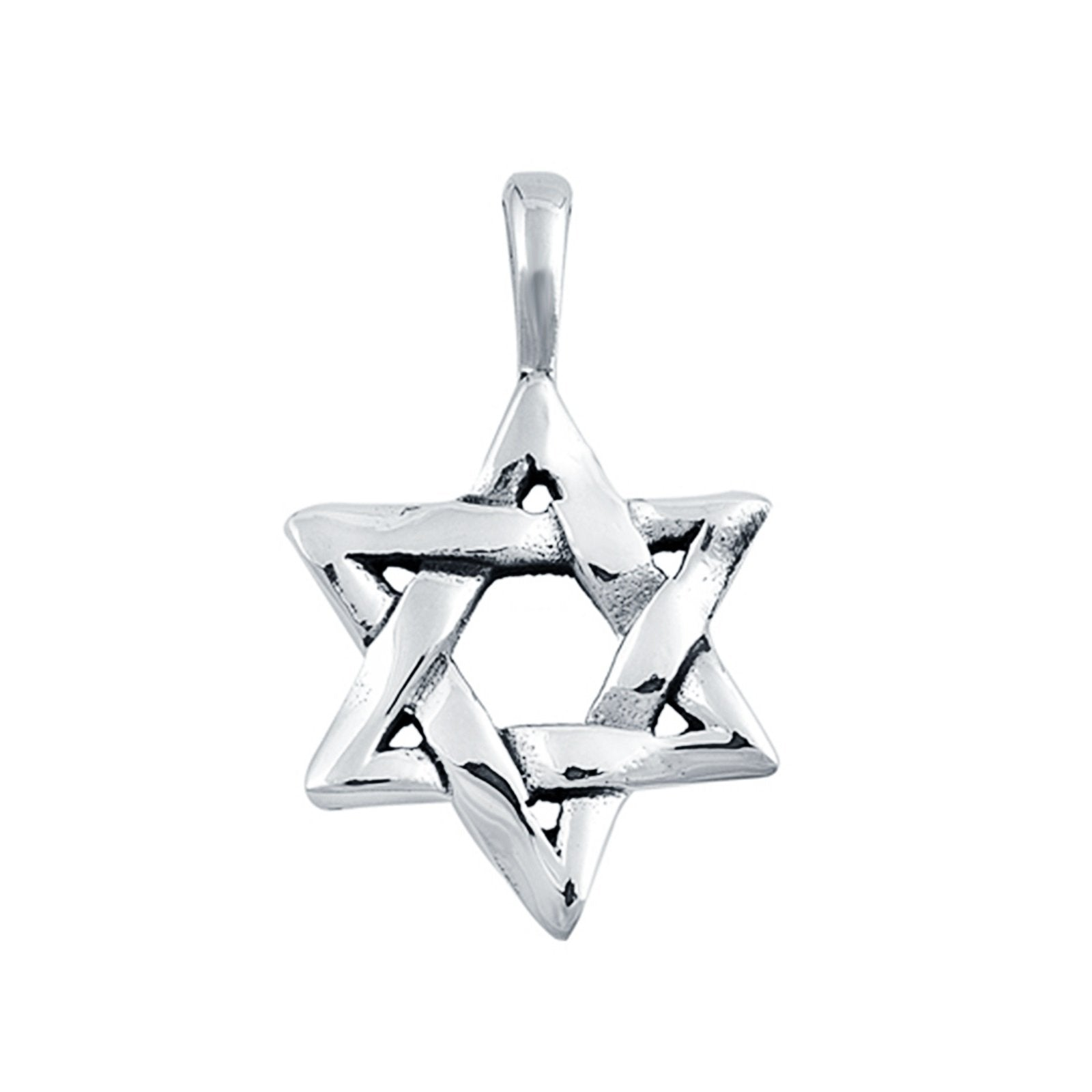 Star of David Pendant Charm Fashion Jewelry 925 Sterling Silver