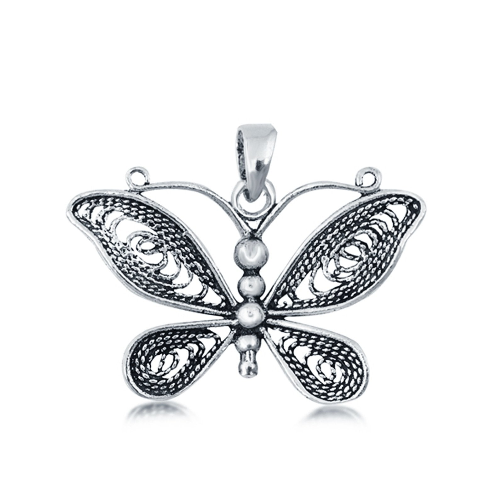 Butterfly Charm Pendant 925 Sterling Silver