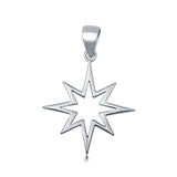 Fashion Jewelry Star Charm Pendant 925 Sterling Silver