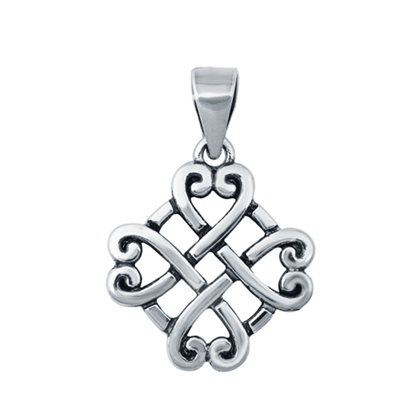 Fashion Jewelry Silver Celtic Charm Pendant 925 Sterling Silver (14mm)