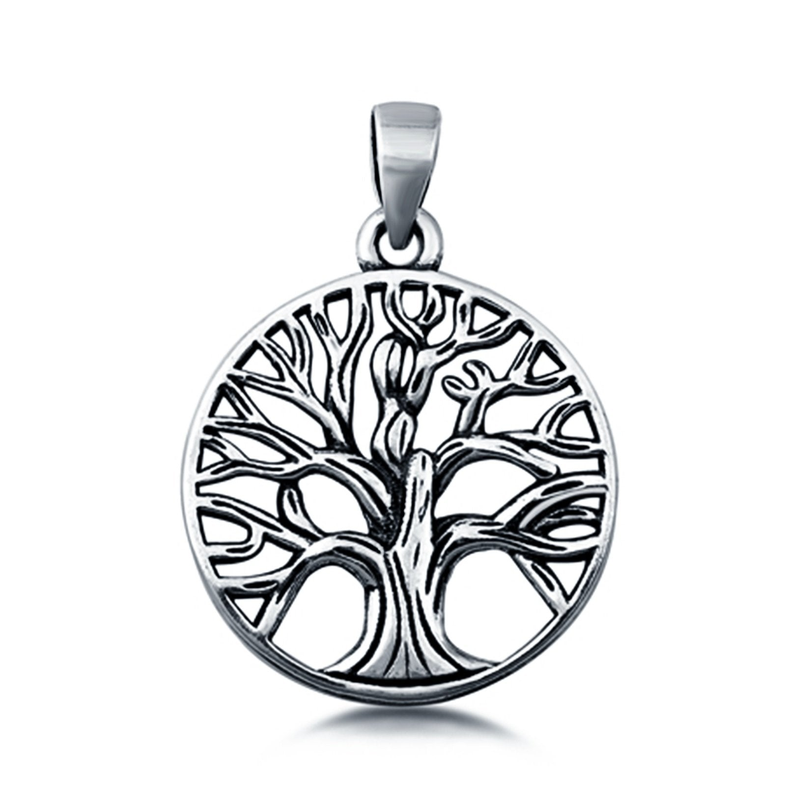 Sterling Silver Tree of Life Pendant Charm 925 Sterling Silver