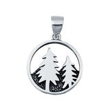 Mountain Forest Charm Nature Wilderness Plain Pendants 925 Sterling Silver