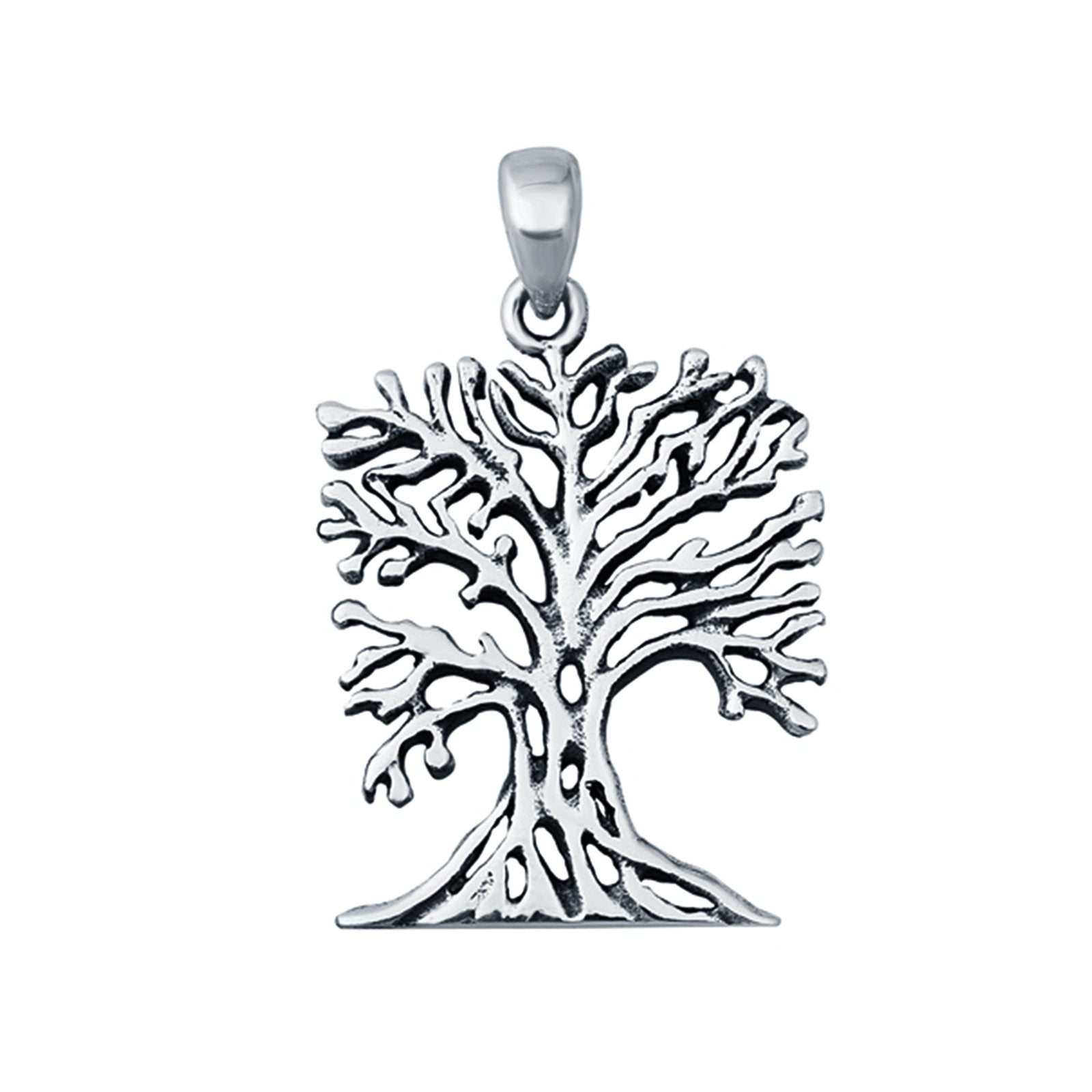 Tree Pendant Charm Fashion Jewelry 925 Sterling Silver