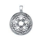 Celtic Star Charm Pendant Round 925 Sterling Silver