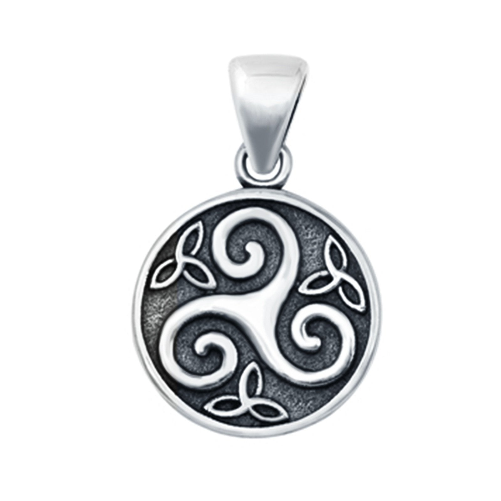 925 Sterling Silver Triskelion Pendant Charm Fashion Jewelry