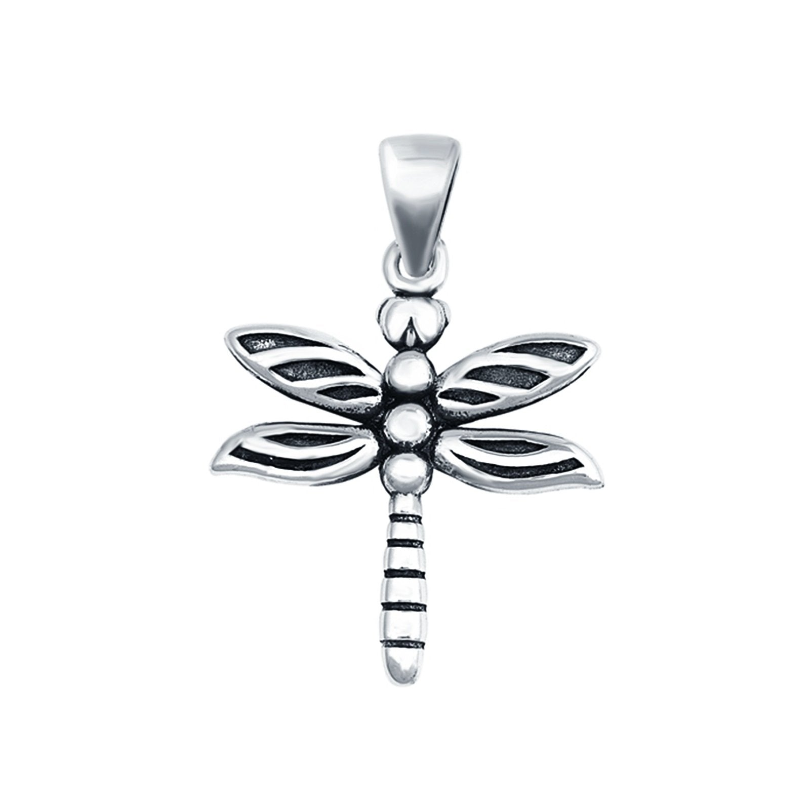 Dragonfly Charm Pendant Fashion Jewelry 925 Sterling Silver