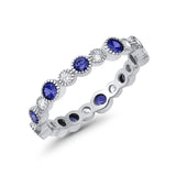 Full Eternity Wedding Ring Simulated CZ 925 Sterling Silver