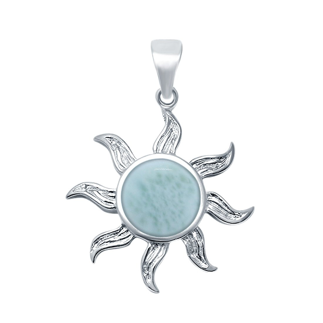 Lab Created Opal Sun Surf Celestial Sun 925 Sterling Silver Charm Pendant