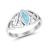 Bezel Marquise Ring  Simulated Cubic Zirconia 925 Sterling Silver