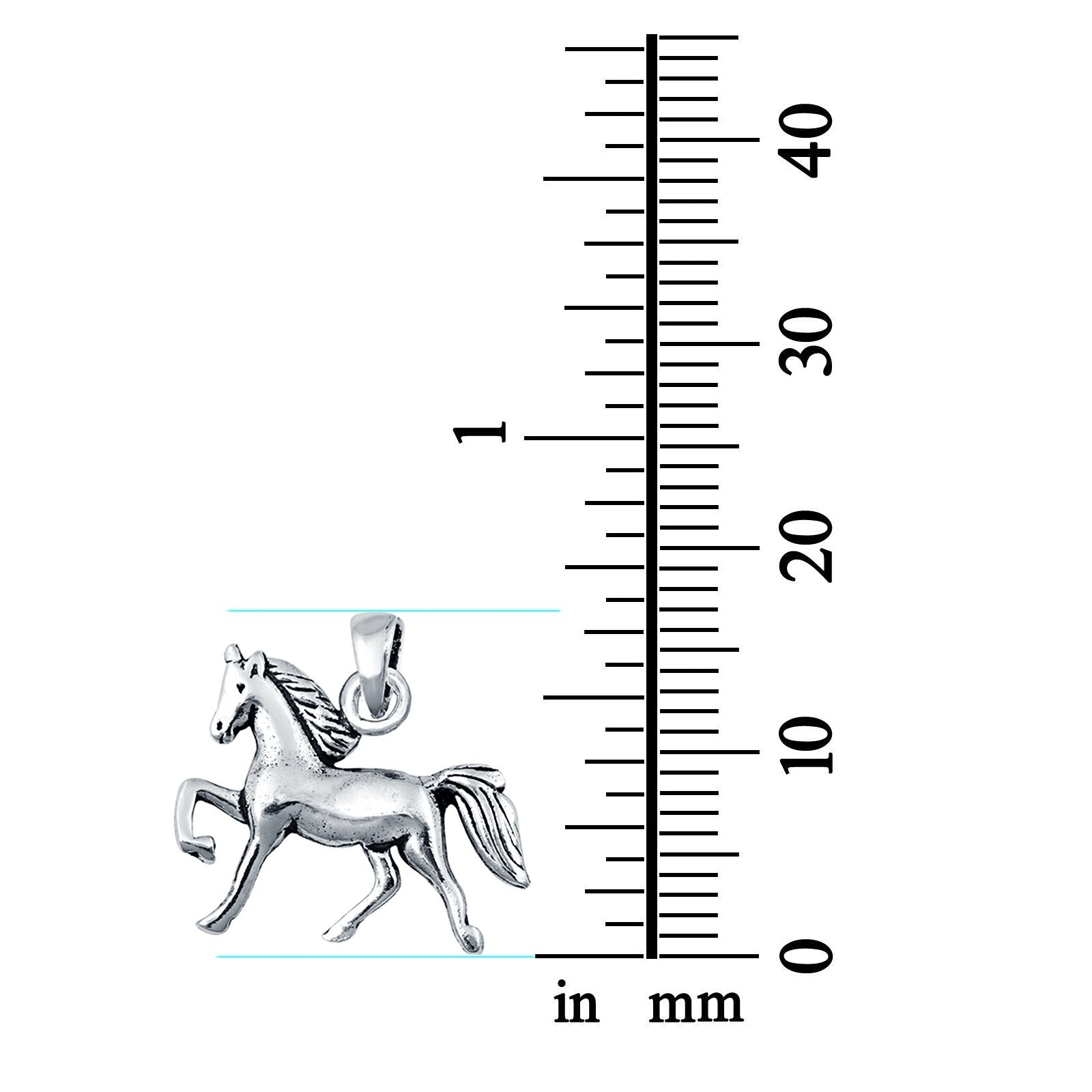 Sterling Silver Horse Pendant Charm 925 Sterling Silver