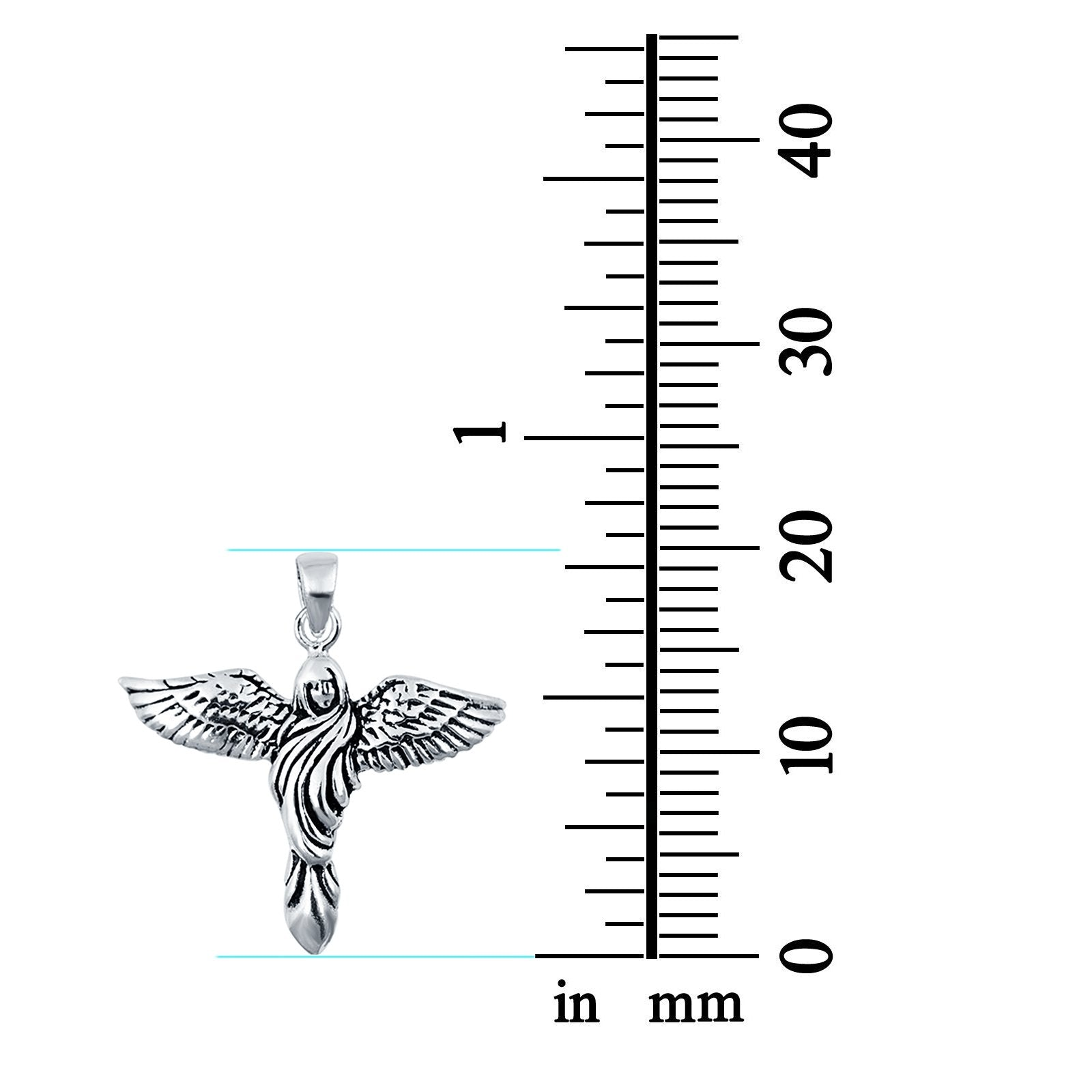 Sterling Silver Angel Charm Pendant 925 Sterling Silver
