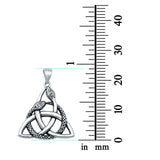 Celtic Snake Charm Pendant 925 Sterling Silver (24mm)