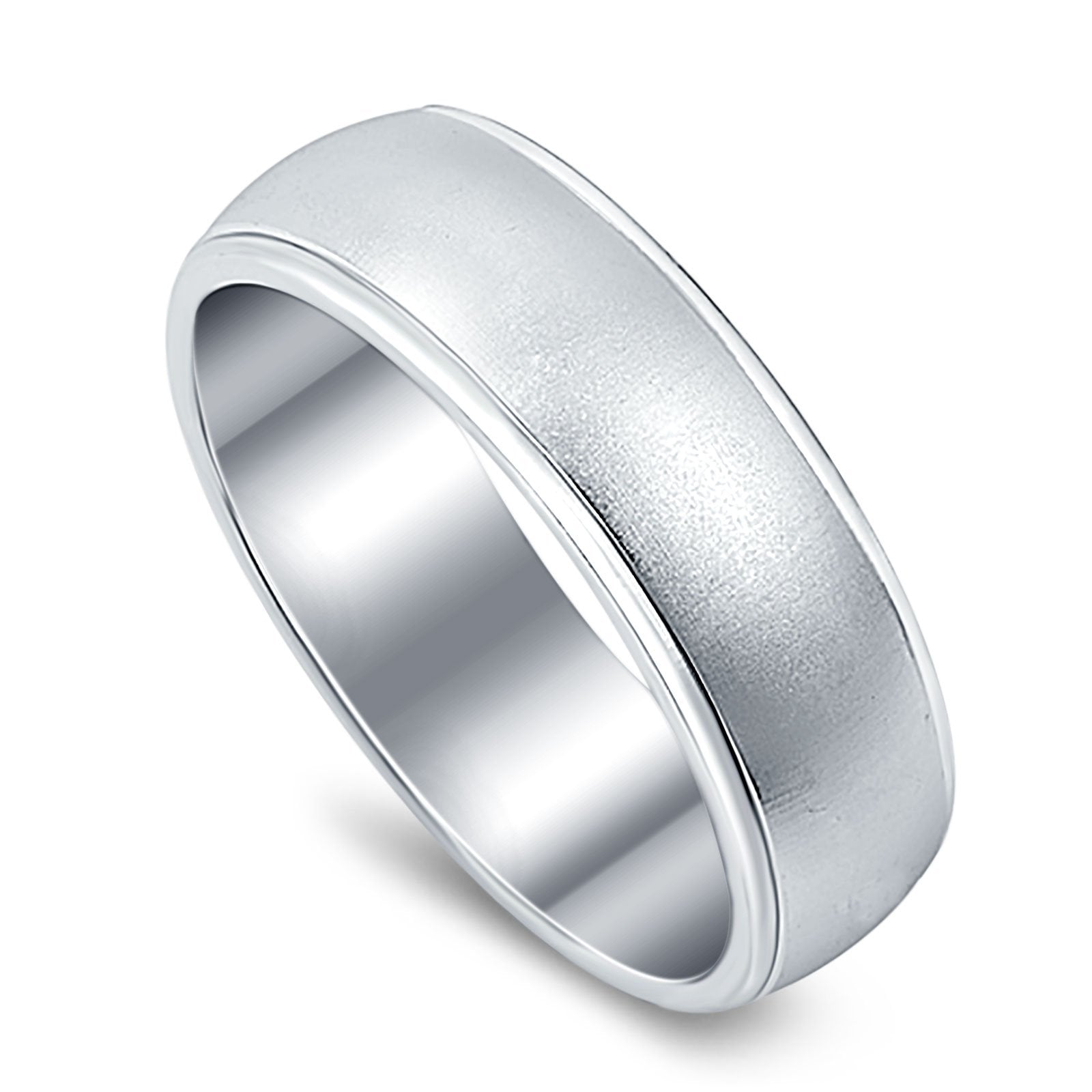 Wedding Ring Band Round 925 Sterling Silver (6mm)