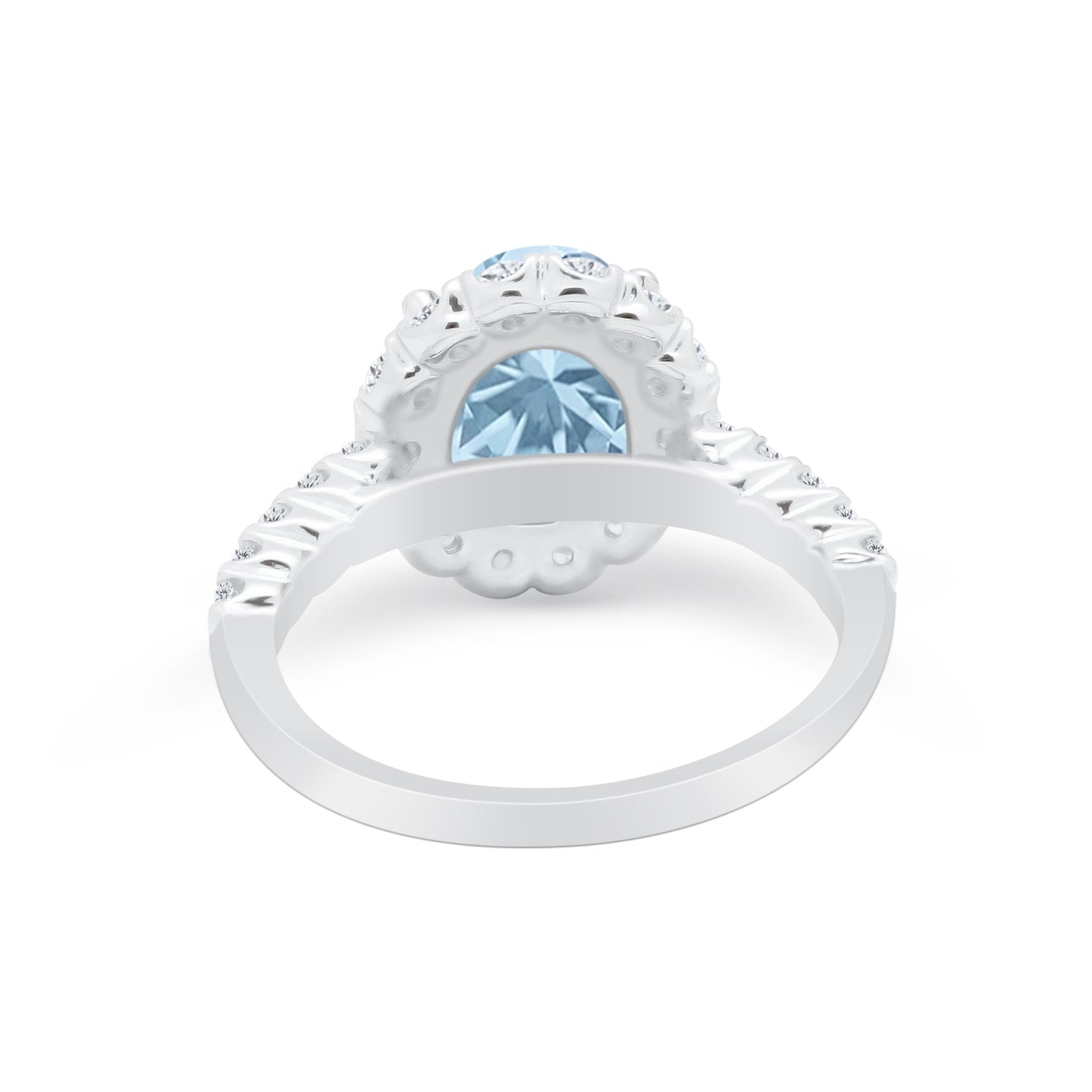Solitaire Accent Wedding Ring Simulated Cubic Zirconia 925 Sterling Silver