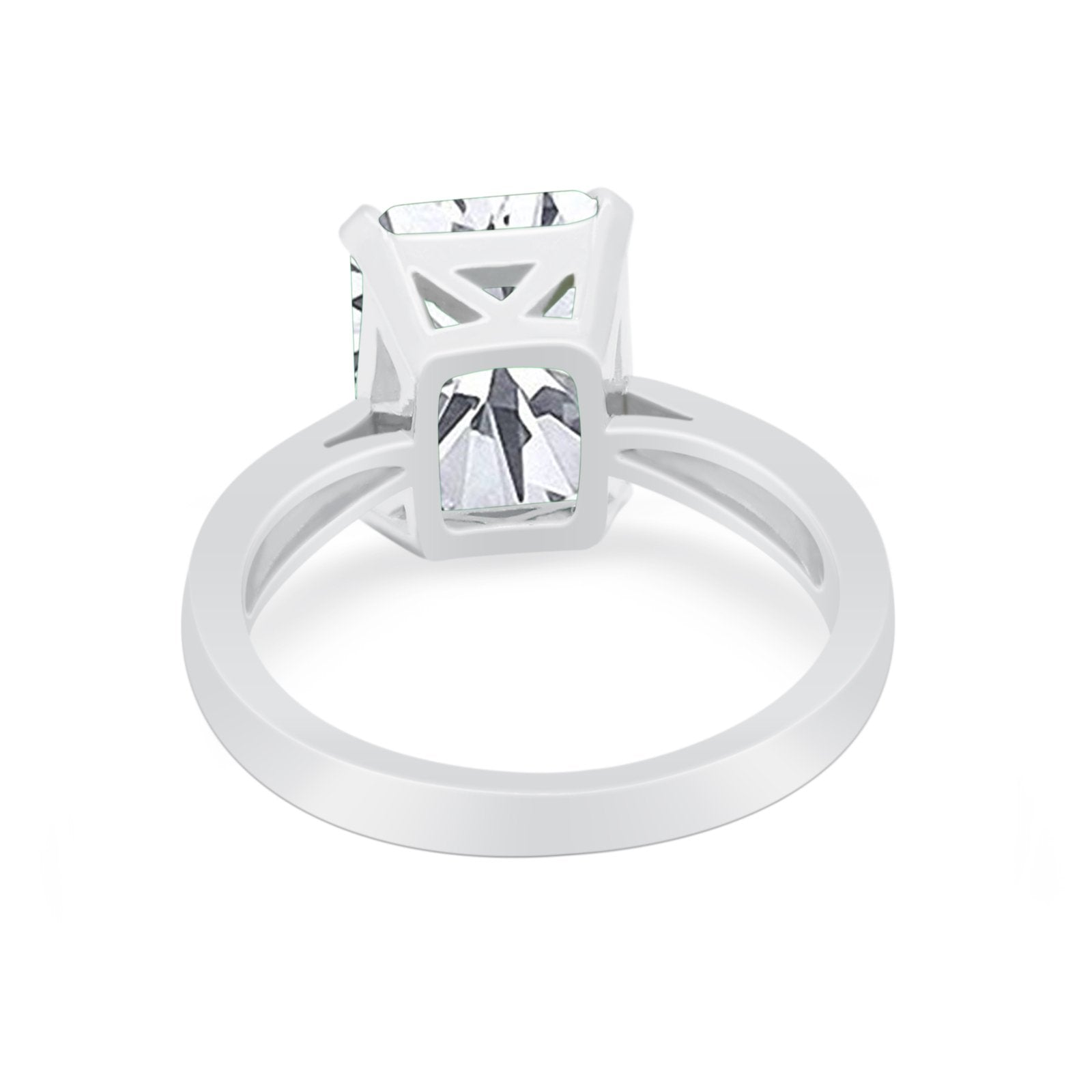 Solitaire Wedding Ring Simulated Cubic Zirconia 925 Sterling Silver