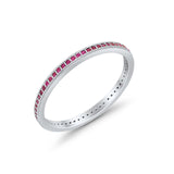 Full Eternity Stackable Band Rings 925 Sterling Silver