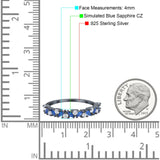 Wedding Band Eternity Ring Marquise Round Simulated Cubic Zirconia 925 Sterling Silver