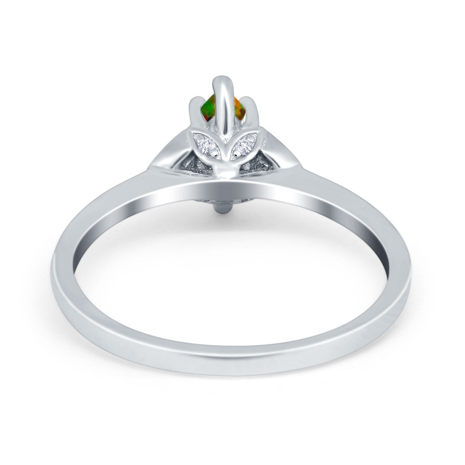 Marquise Art Deco Engagement Ring Simulated Cubic Zirconia 925 Sterling Silver
