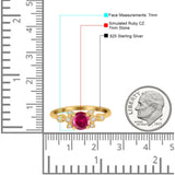 Vintage Style Round Simulated Cubic Zirconia Wedding Ring 925 Sterling Silver