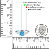 Vintage Style Oval Engagement Ring Simulated Cubic Zirconia 925 Sterling Silver