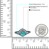 Filigree Engagement Ring Round Simulated Cubic Zirconia 925 Sterling Silver