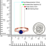 Art Deco Wedding Engagement Ring Round Simulated Cubic Zirconia 925 Sterling Silver