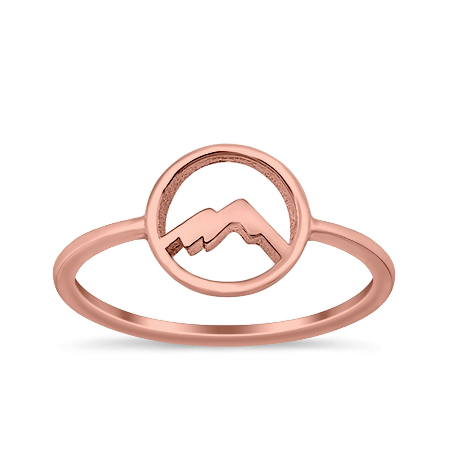 Mountain Fashion Petite Dainty Plain Ring Solid 925 Sterling Silver