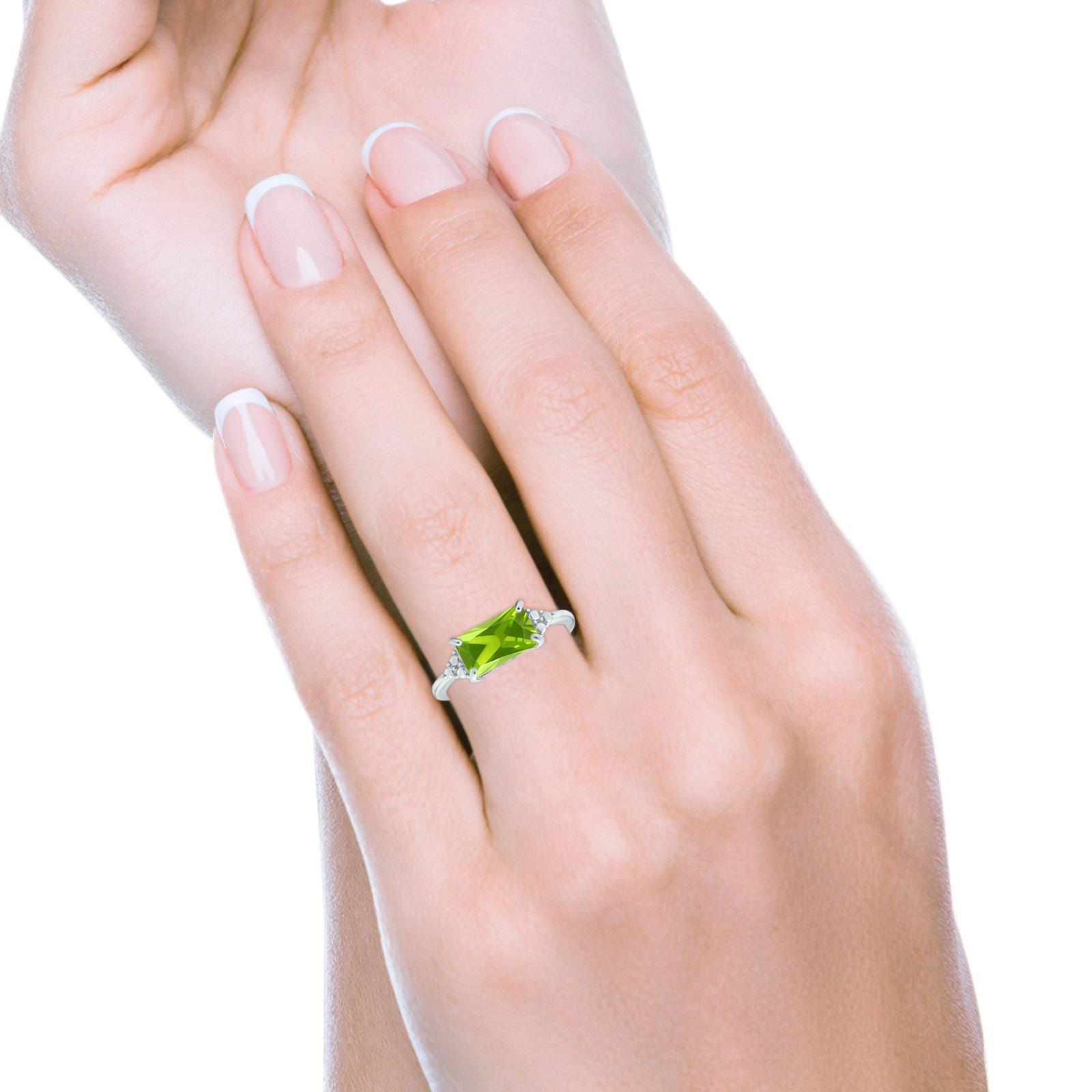 Sideways Fashion Ring Dainty Simulated Cubic Zirconia 925 Sterling Silver